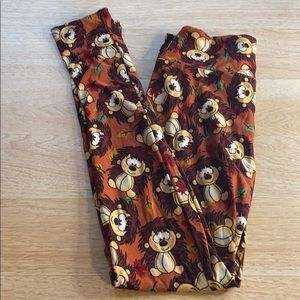 LuLaRoe LLR Fall Hedgehog Leggings OS
